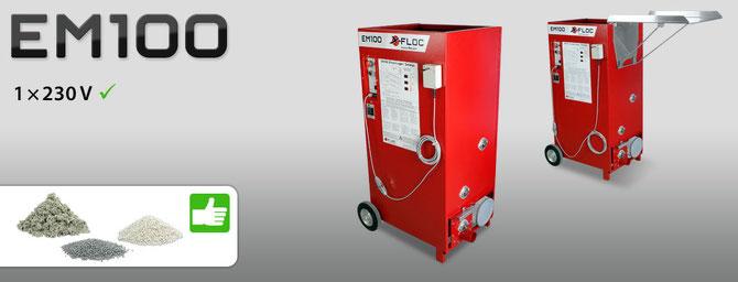 EM 100 Dämmstoff Einblasmaschine für Zellulose und EPS Granulat