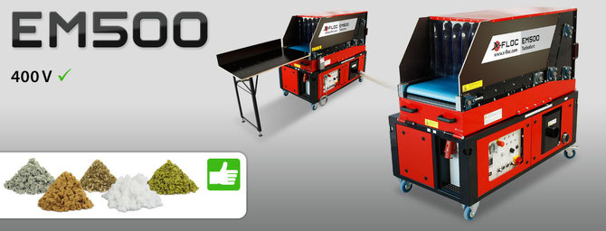 EM 500 Faserdämmstoff Einblasmaschine für Zellulose, Holzfaser, Glaswolle und Steinwolle.