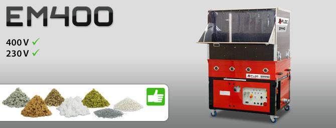 Die Profi Einblasmaschine EM 400-430-440 für viele Einblas-Dämmstoffe sehr gut geeignet.