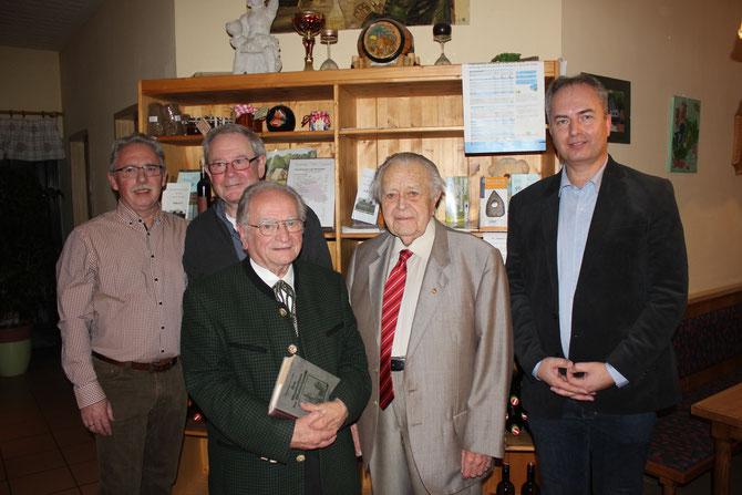 Reinhard Wolf, Herbert Fidesser, Prof. Hermann Jagenteufel, Ök.Rat Josef Pfeifer, Thomas Soucek