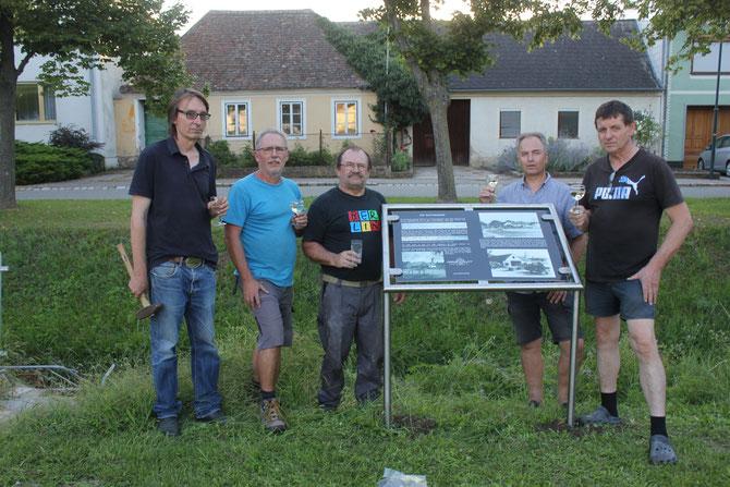 Von links: Max Moswitzer, Reinhard Wolf, Ernst Muck, Thomas Soucek und Anton Müller