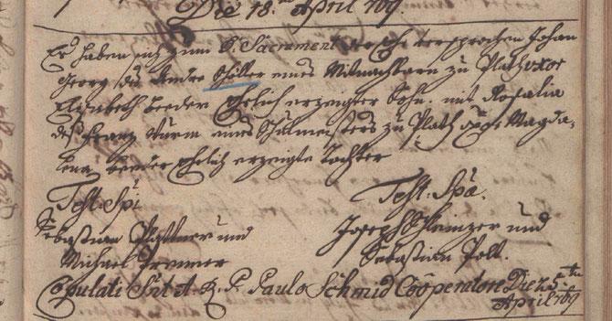 Quelle: Trauungsbuch Zellerndorf (1766 - 1784), folio 35