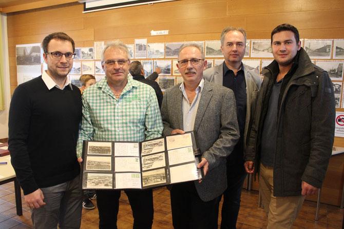 v. links: Patrick Eber, Karl Schimpel, Reinhard Wolf, Thomas Soucek, Bürgermeister Markus Baier
