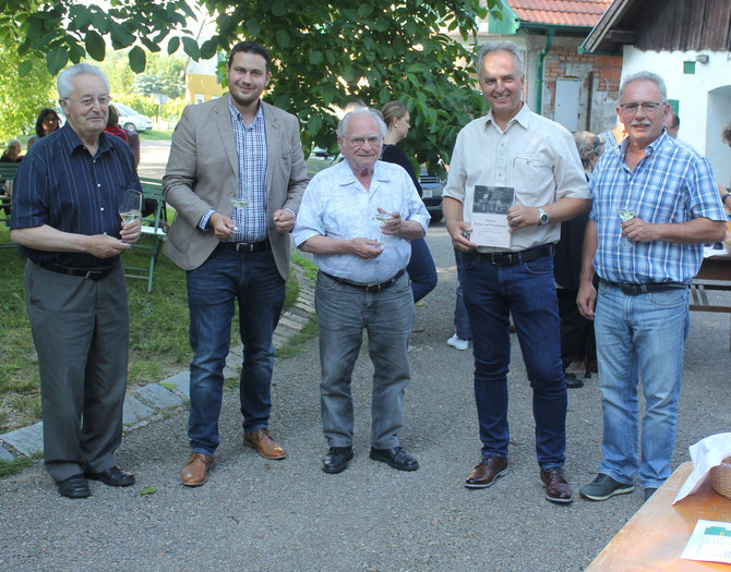 Prälat Franz Mantler, Bürgermeister Markus Baier, Prof. Hermann Jagenteufel, Thomas Soucek, Reinhard Wolf