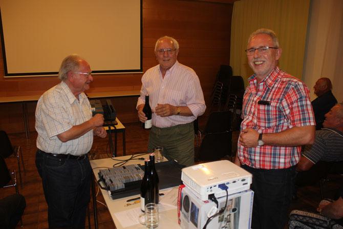Prof. Hermann Jagenteufel, Walter Wolf, Reinhard Wolf