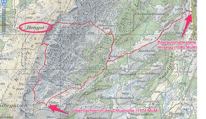 2-Tagestour Chlushütte/Hengst