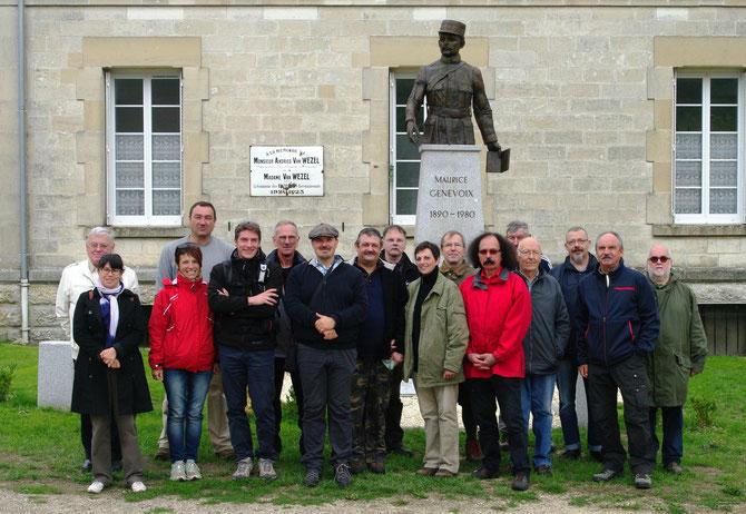 A la découverte des Eparges avec Nicolas Czubak, Pascal Lejeune et l'Association nationale pour le souvenir de la Bataille de Verdun Crédits photo : M. Prudent