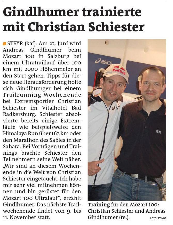Training für Mozart 100 mit Christian Schiester