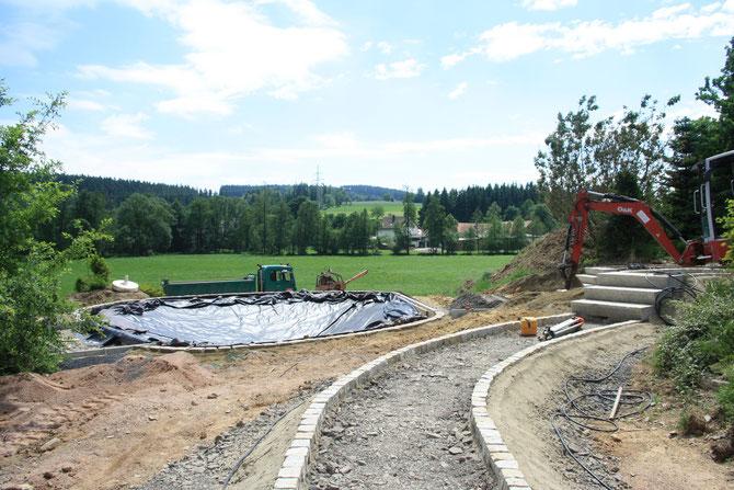 Wege- und Teichbau