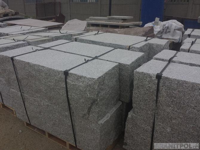 Polengranit Quadersteine günstig nach Allgäu liefern. Mauersteine aus Granit Allgäu
