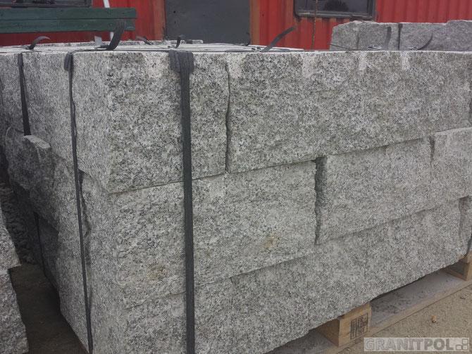 Gesägte Mauersteine aus Polen kaufen, polnische Mauersteine aus Granit kaufen