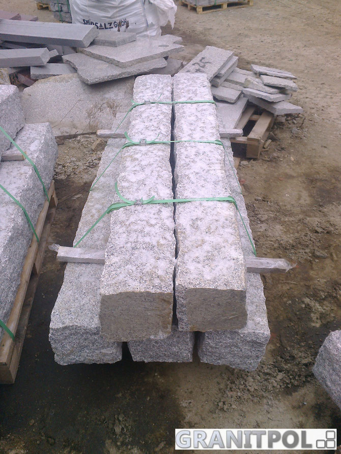 polnische Pflastersteine und Mauersteine aus granit, Kopfsteinpflaster