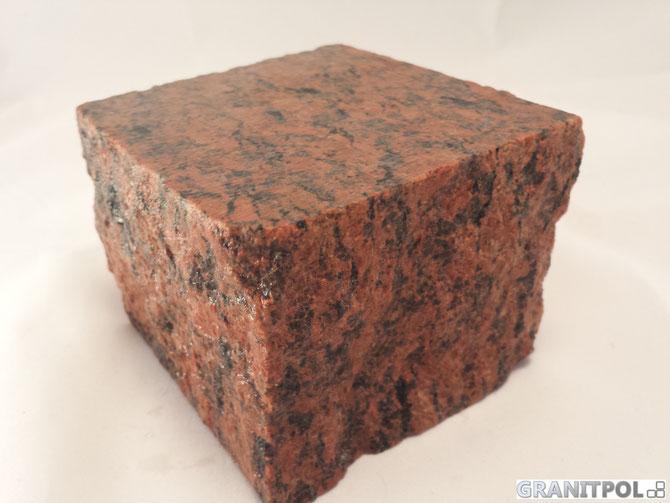 rote Granitsteine aus Schweden, schwedisches Granitpflaster günstig kaufen