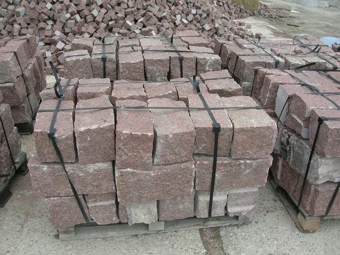 Mauersteine aus Granit, Vanga Mauersteine, rote Mauersteine