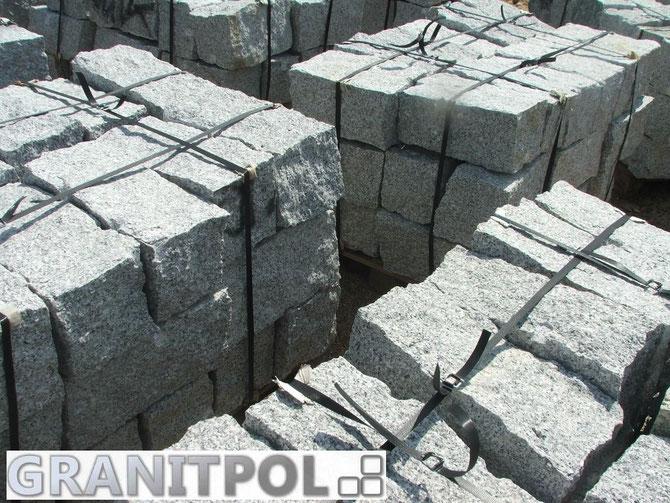 Mauerstein aus Granit 40x20x20 grau, Herkunft Polen