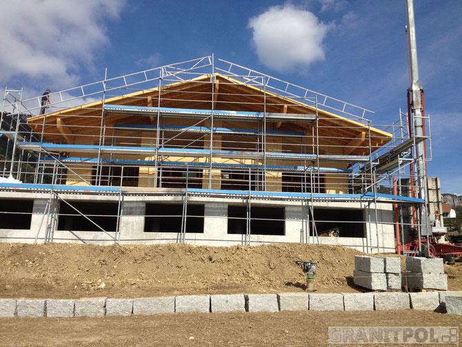 Granitblöcke 40x40 Schweiz liefern export aus Polen, Mauersteine aus Granit