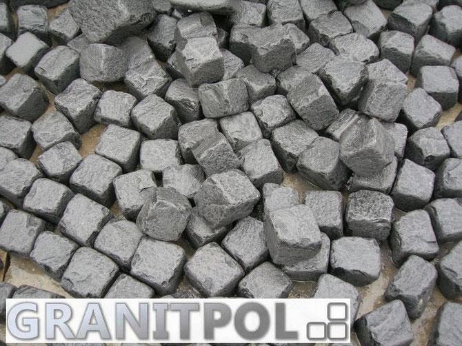 Pflastersteine getrommelt schwarz, schwarze Pflaster, Granitpflaster schwarz Schweden, Granit