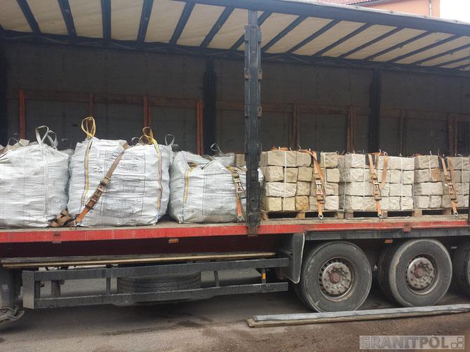 Sandsteine aus Polen geliefert in die Schweiz, Polengranit Quadersteine