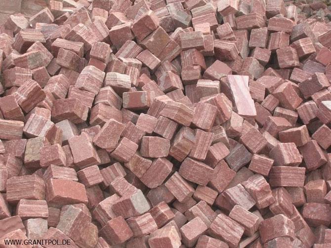 Granitsteine Wasa aus Schweden, Granitstein aus Polen, schwedische Pflastersteine