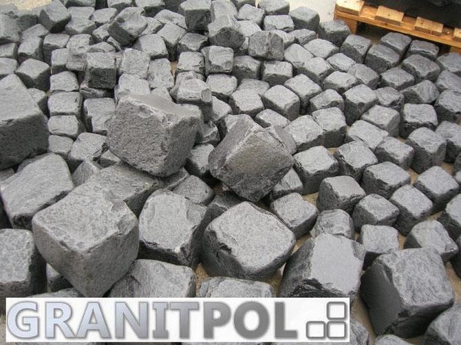schwarze pflastersteine natursteine aus polen granit