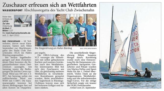 Quelle: Nordwest Zeitung 4.10.2012