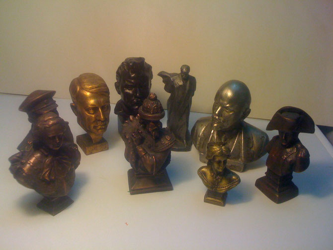 Коллекция бюстиков исторических  персон
