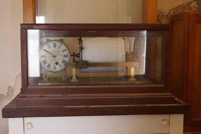 "Harrison & Sons tide gauge installed in 1908 at Fort Denison, Sydney. From Sydney Ports, ""my port""newsletter."