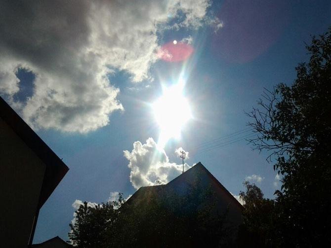 So sieht die Sonne aus, die sich im Mai nicht so häufig zeigte. (28.05.13)