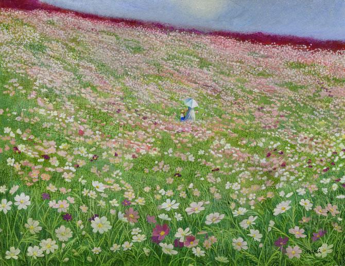 出展作品「思い出絨毯」F6号 油彩