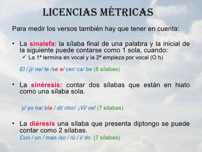 Ejemplos de licencias métricas.