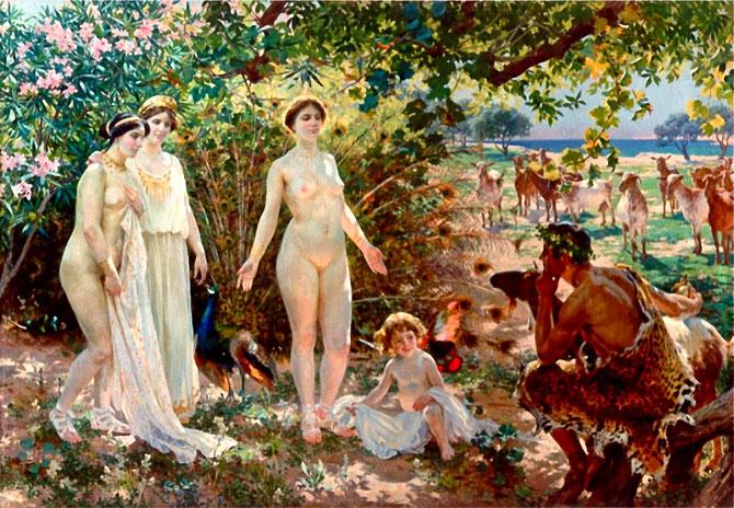 El juicio de Paris. Enrique Simonet, 1902