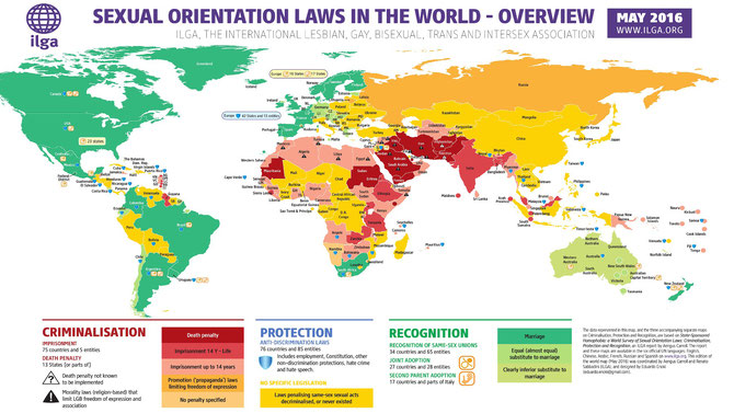 Sexual Orientation Laws in the World. May 2016