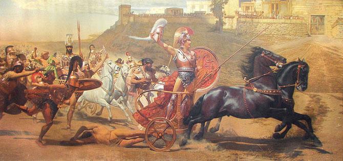 Triunfante Aquiles. Franz Matsch. 1892.