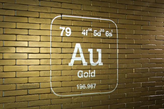 Der Eingang zum 'Gold'. Schätze in der Ausstellung der Deutschen Bundesbank. Bild: Getty Images