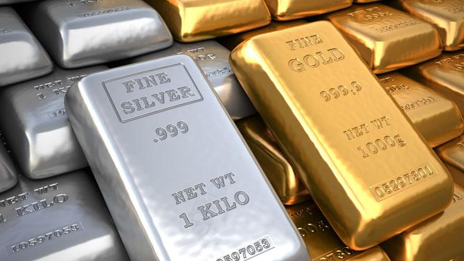 Physisches Silber und Gold im eigenem Beitz