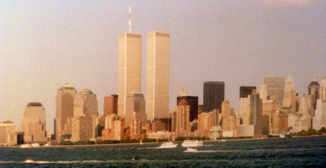 Bild: Foto: EP Brustkrebs , Karin Jöns, Lissy Gröner, New York, September 2001, WTC, Twintowers
