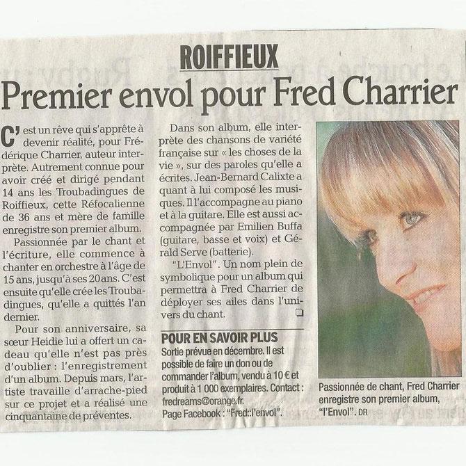Premier envol pour Fred Charrier