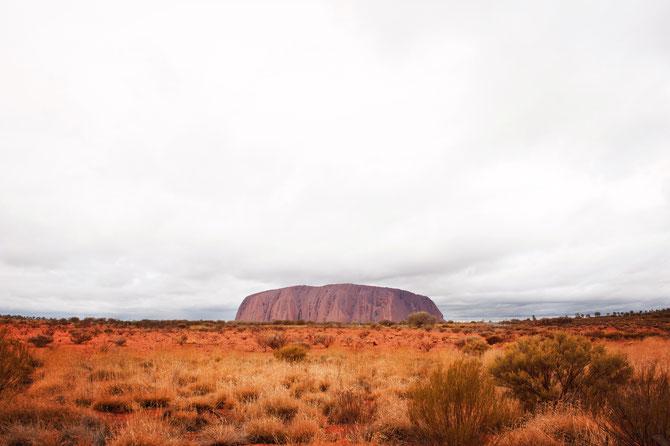 Fels Uluru Australien Landschaft