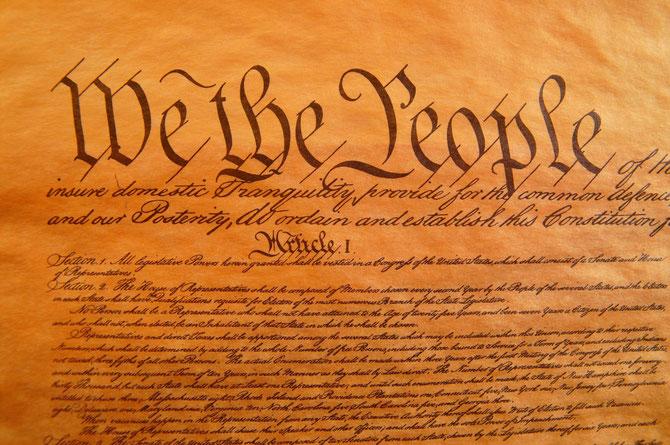 アメリカ憲法の原本