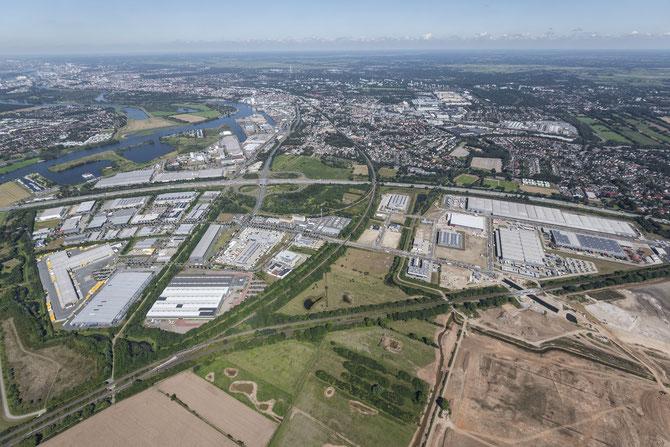 Für den Gewerbepark Hansalinie werden fast 300 Hektar Fläche versiegelt (©WFB Studio B)