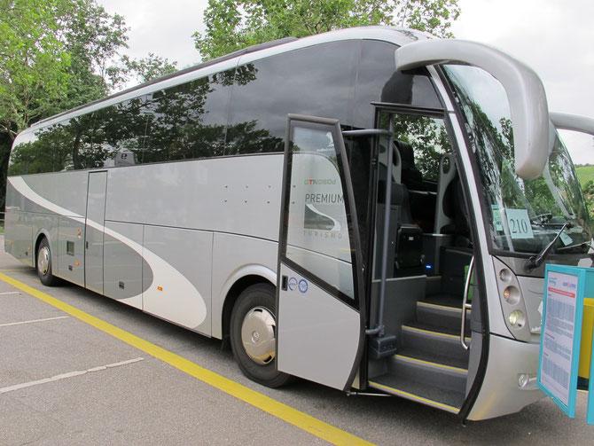 Nach Irun (Spanien) bin ich mit dem Bus von Stuttgart gekommen