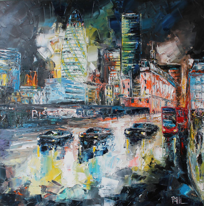 Bishopsgate district, Londres;        80/80 cm.  VENDU