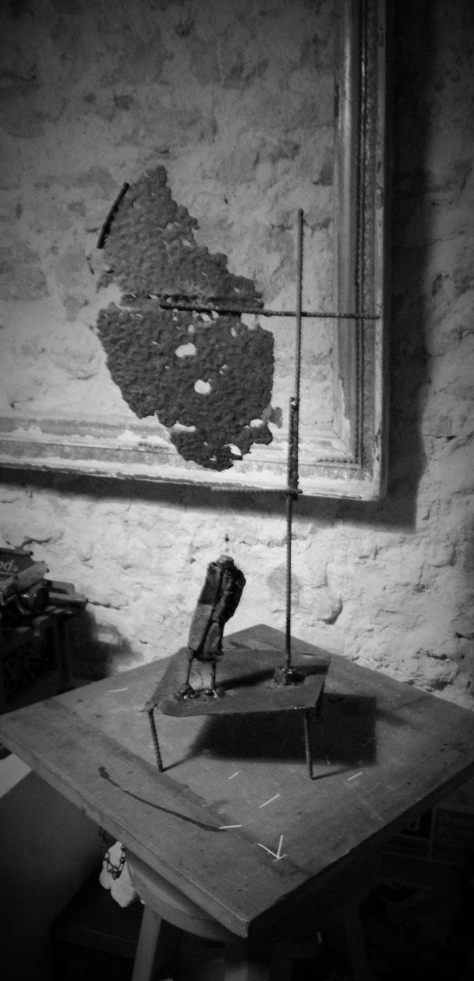 """""""Mémoire de Stéle"""" - Acier - 30X15x15"""