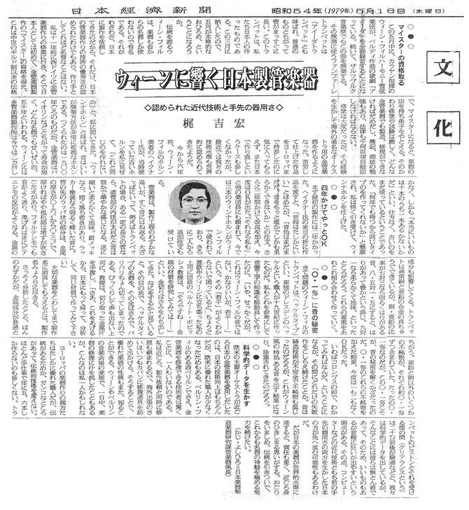 出典 日本経済新聞 1979.5.16
