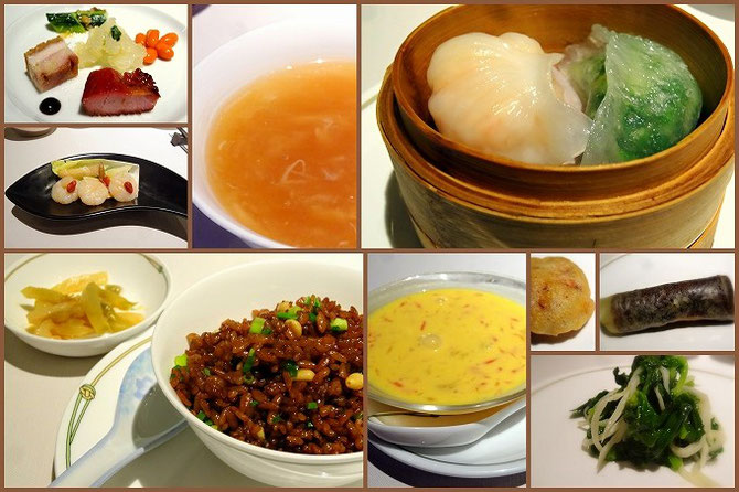 中国飯店 富麗華のお料理。どれもきちんと作られていて美味しかったです。きもの友達3人で訪れました。