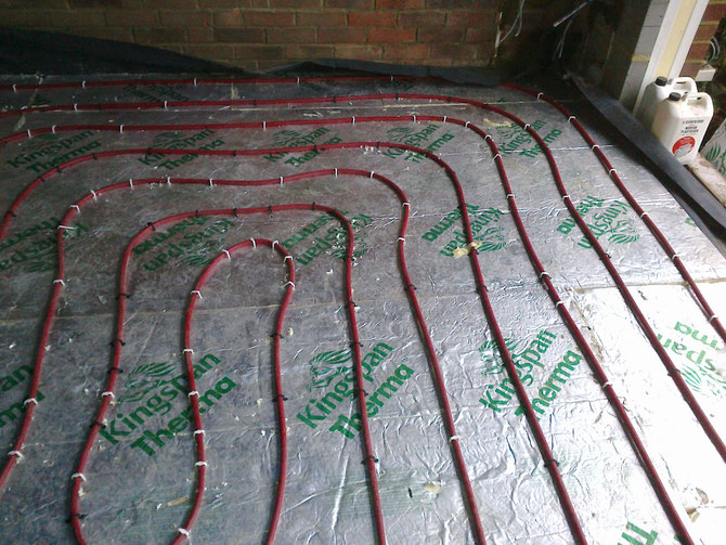 underfloor heating on polystyrene kingspan