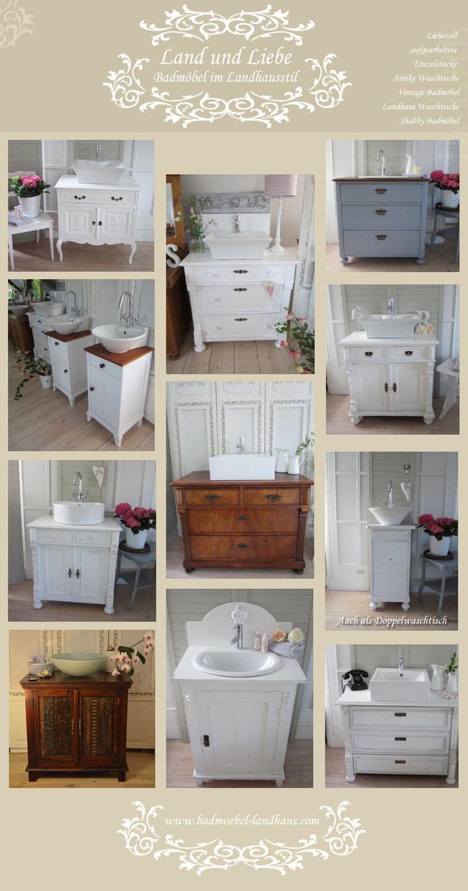 Waschtische antik, Landhausstil, Vintage und Shabby Chic