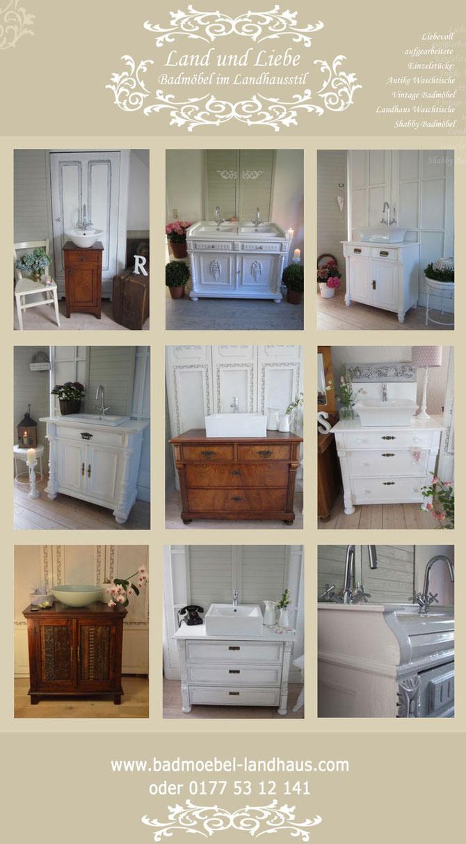 Antike Waschtische im Landhausstil