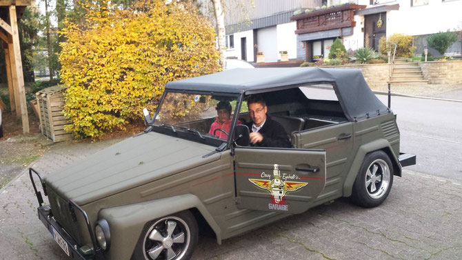 VW 181 erste Ausfahrt