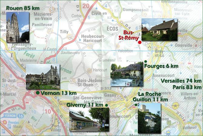 Gite Chandoiseau à Bus Saint Rémy : visite des environs et de Giverny